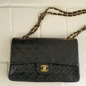CHANEL Lambskin Medium Double Classic Flap